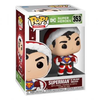 Funko Pop! Vinyl DC Comics Holiday Superman in Christmas Sweater Figure - Pre-Order